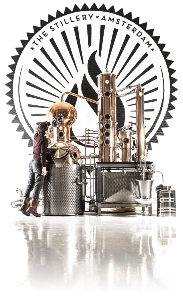 A 400L potstill on which The Stillery makes it's gin genever and vodka.