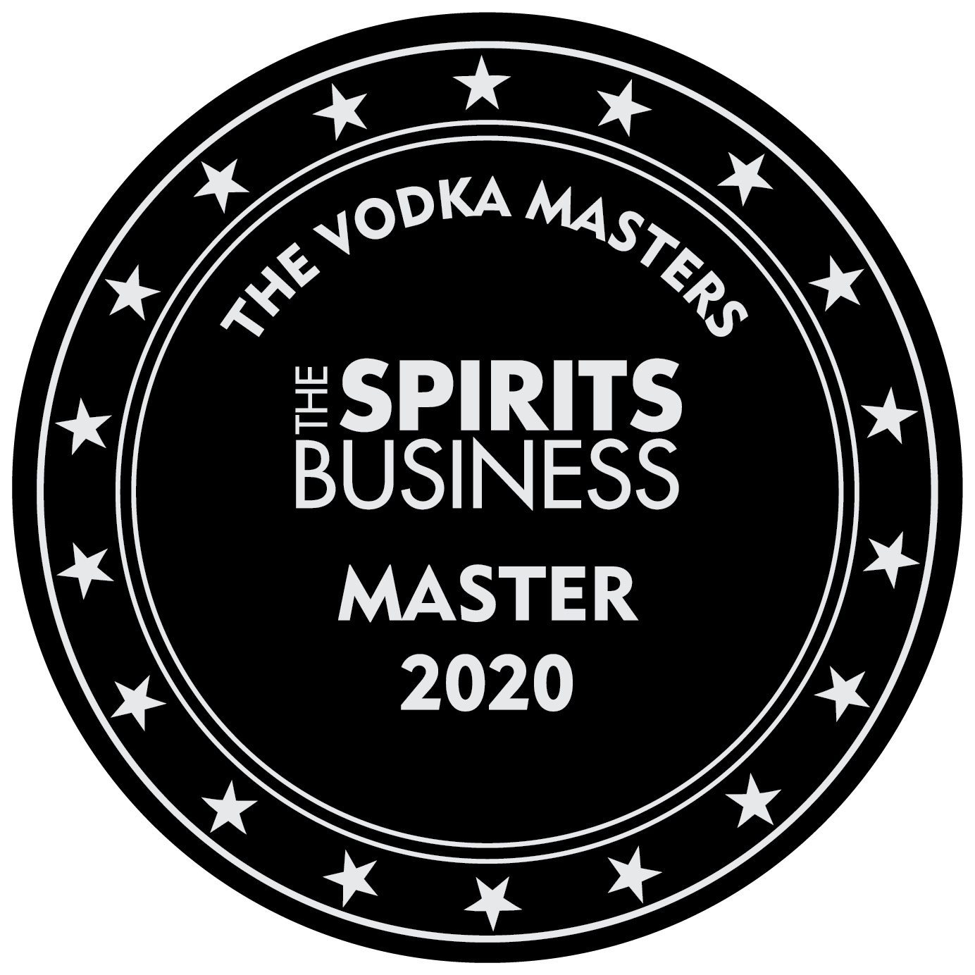 An Master award won by the Stillery amsterdam which reads The Spirit Business Master 2020