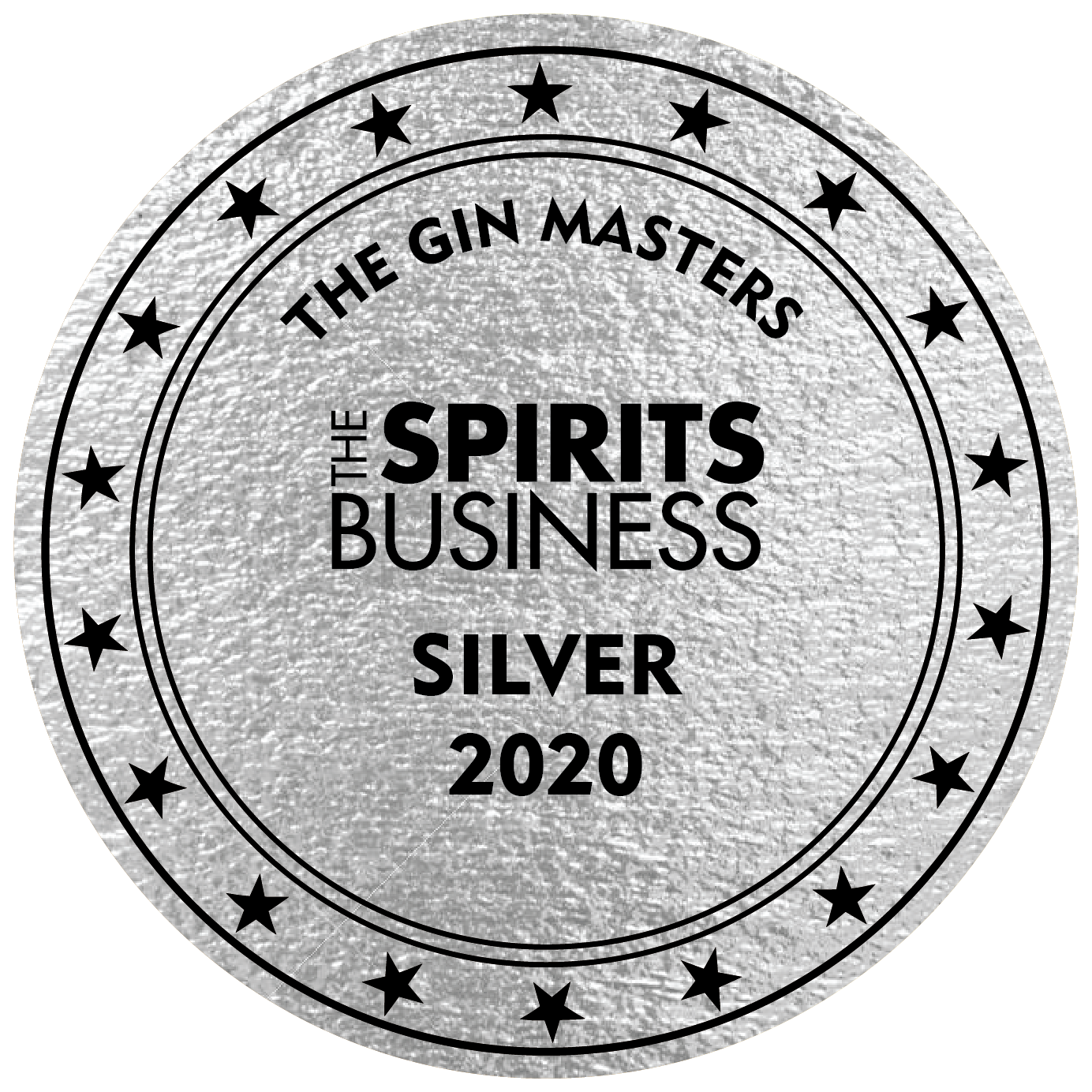 An Silver award won by the Stillery amsterdam which reads The Spirit Business Silver 2020