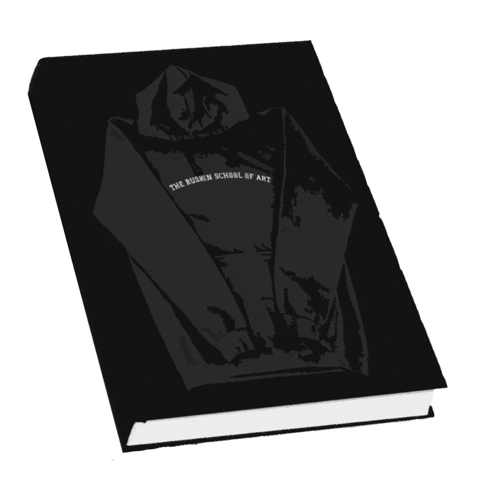 black book with hoodie on cover