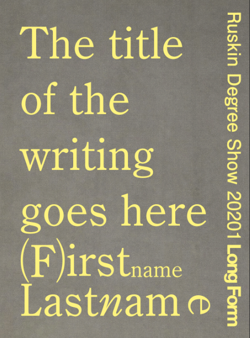 long form book cover yellow text on grey background