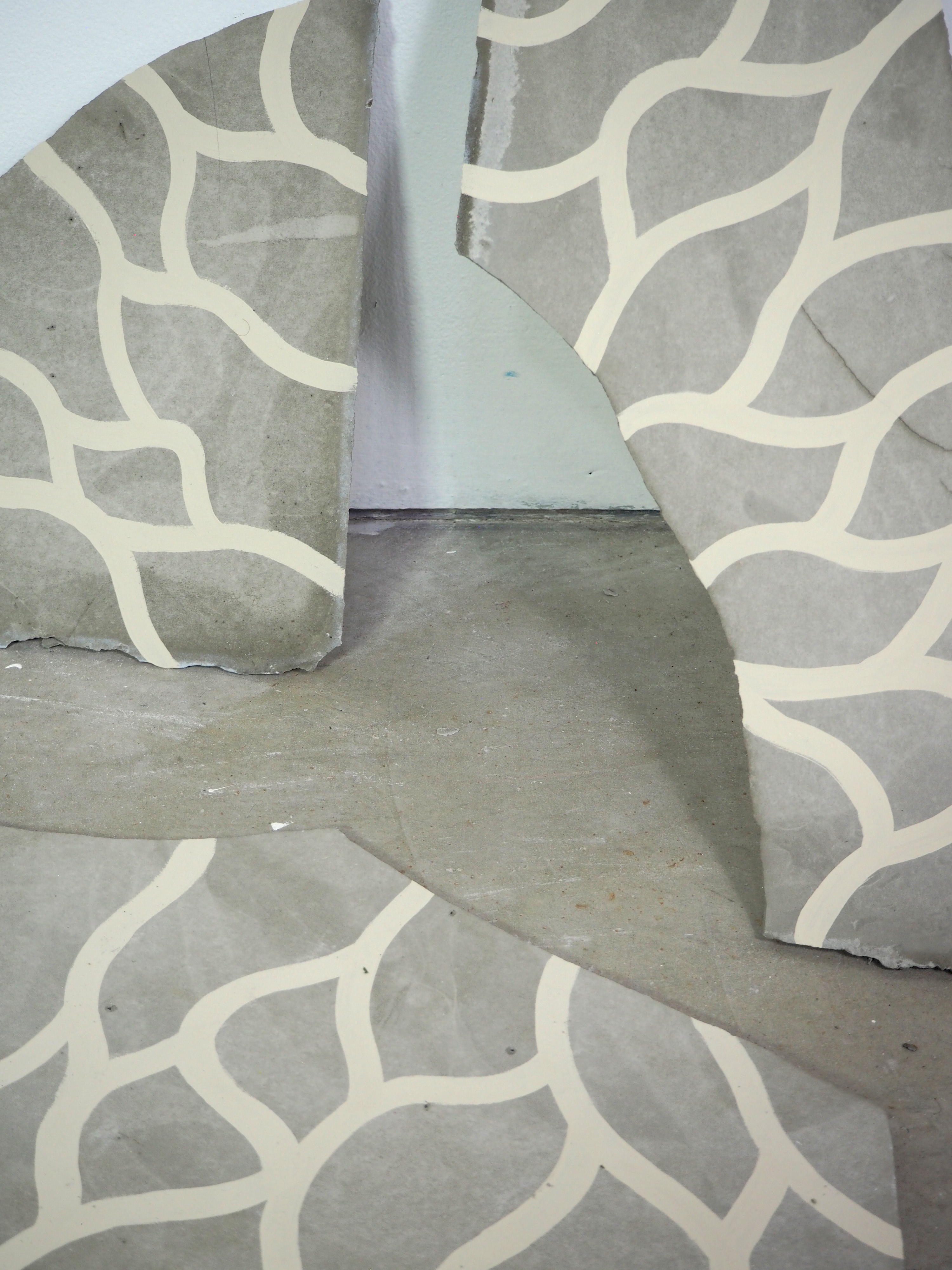 close up image of pattern on concrete