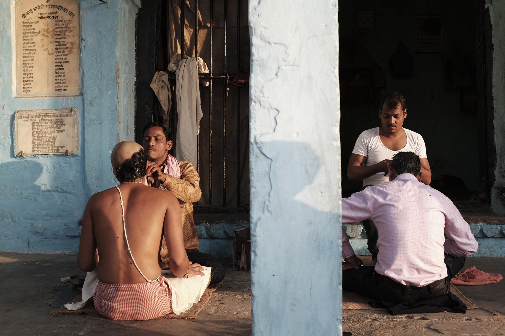 Barbers in Varanasi