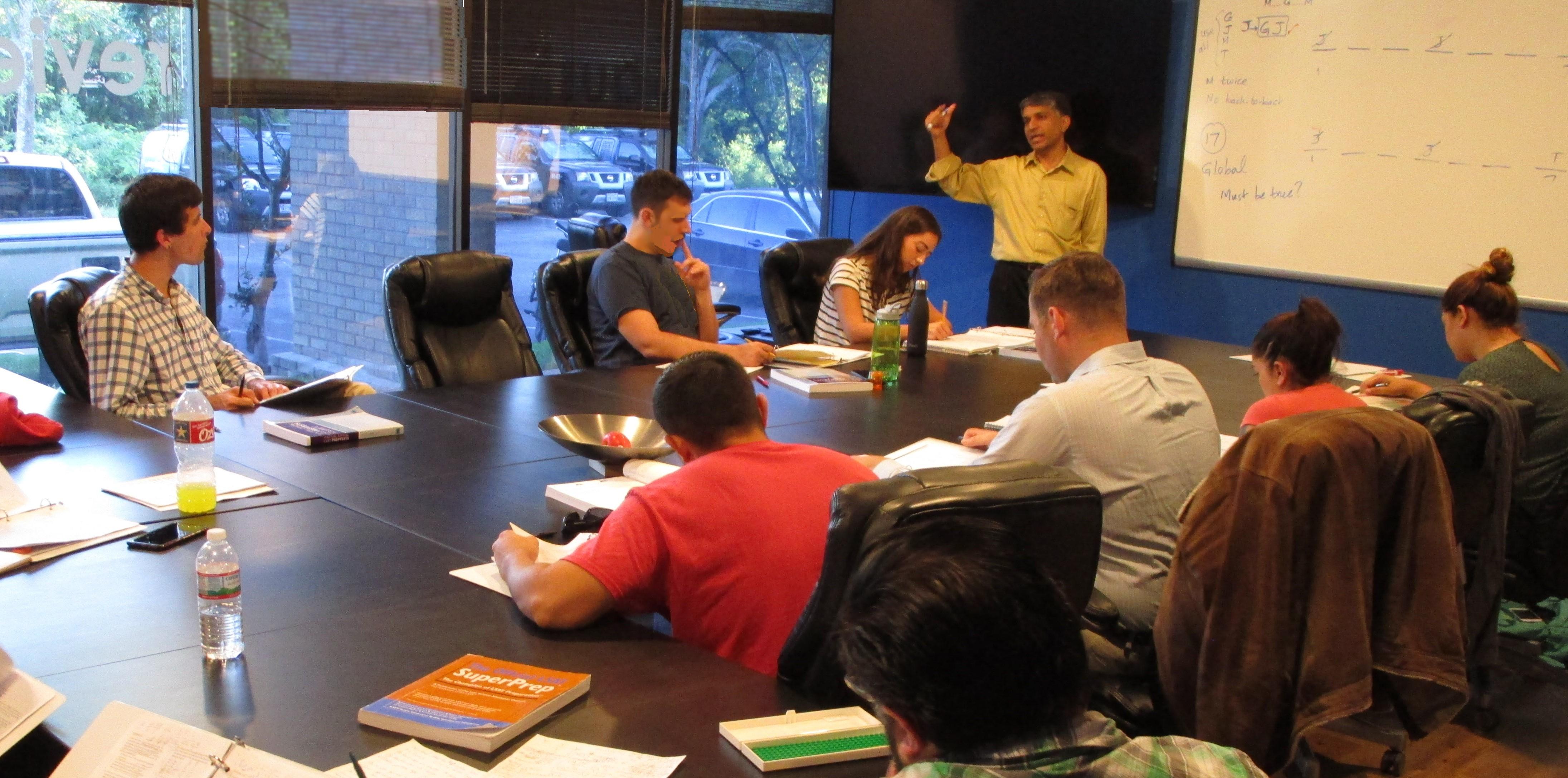 Students attending Austin LSAT Prep course