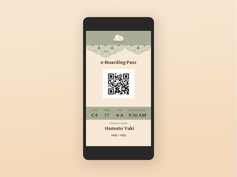 e-boarding pass