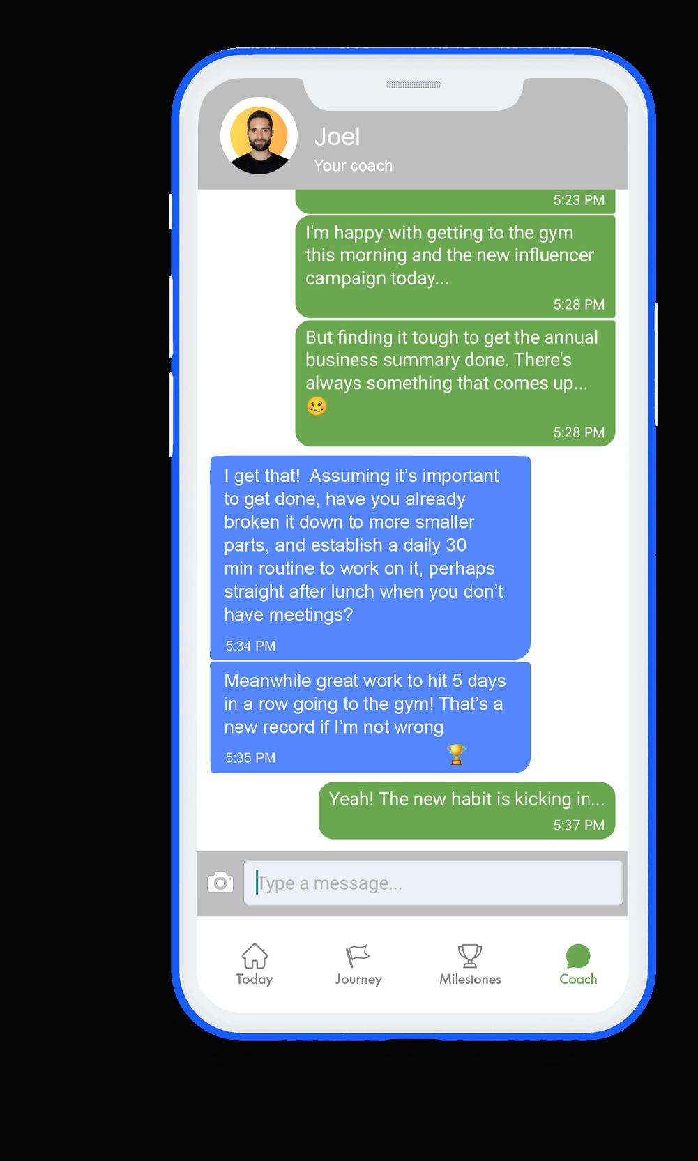 GoalsWon mobile screenshot chat