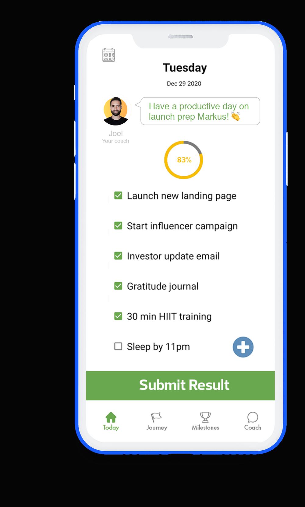 GoalsWon mobile screenshot today
