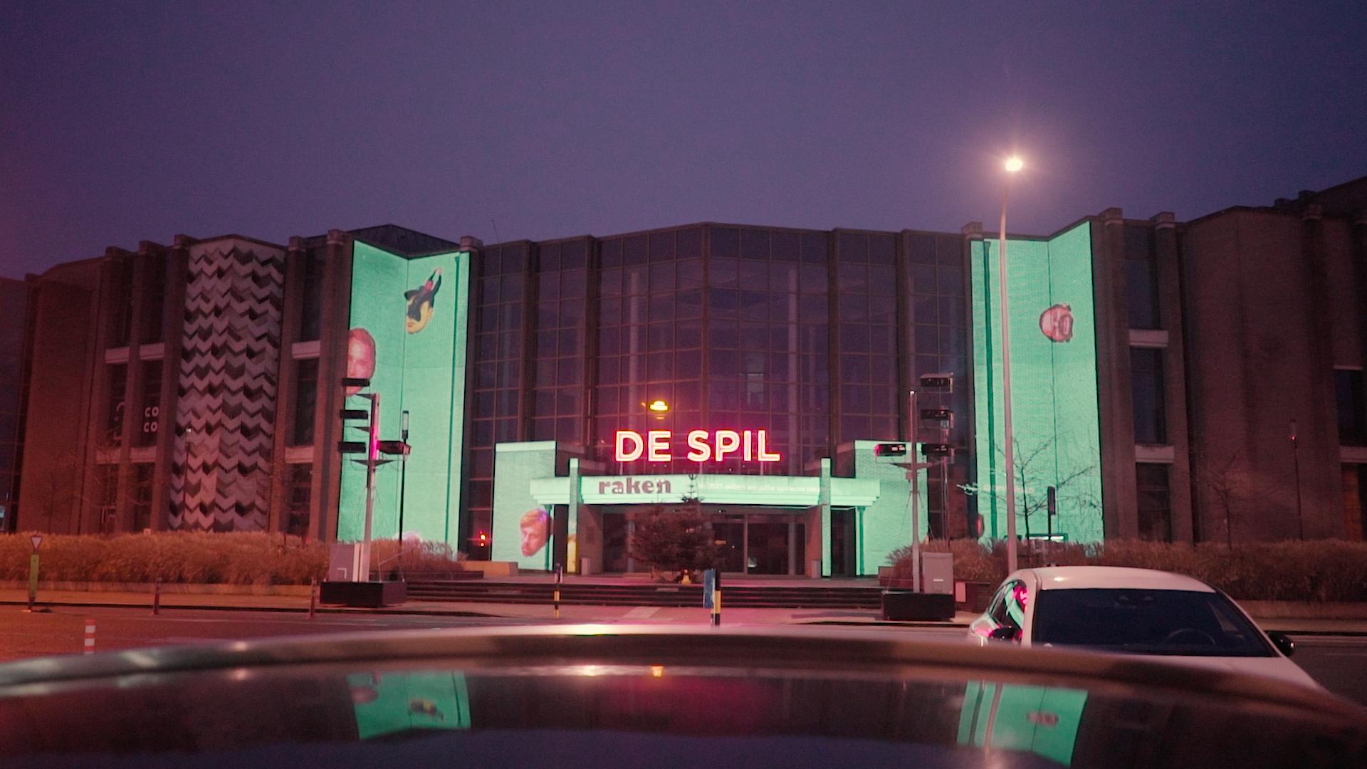 Videomapping Cultuurcentrum De Spil Roeselare