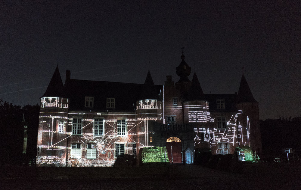 Historische videomapping kasteel Rumbeke - Vliegeniers WOI