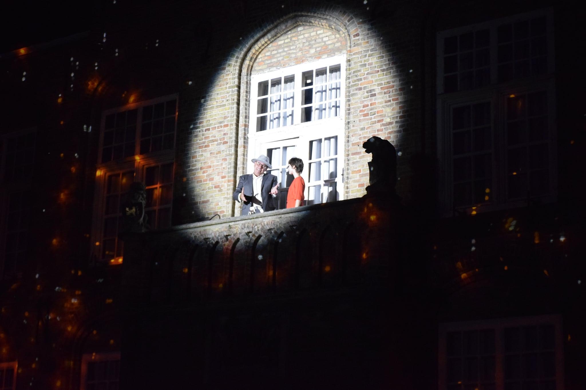 Videomapping - live acteurs - Stadhuis Nieuwpoort