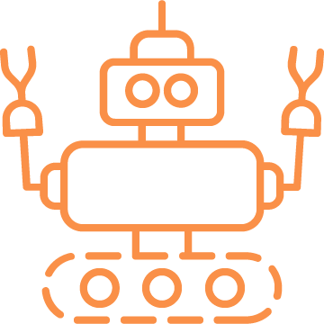 Icon of a happy robot