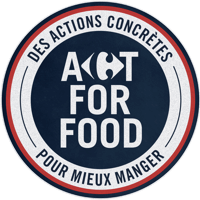 Act for food logo Carrefour