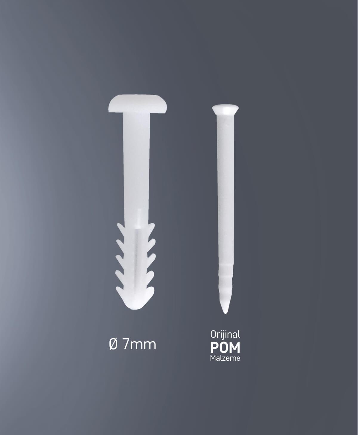 Slimflec çivili korniş dübeli 1