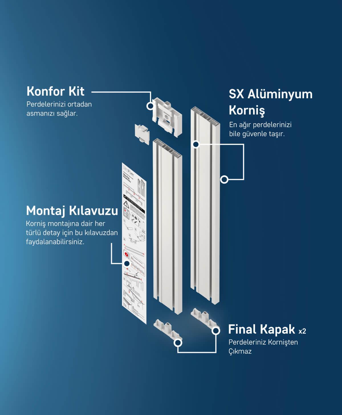 Slimflex sx yenilikçi alüminyum korniş 1