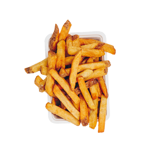 Een foto van een bak friet, om de fast food / Quick-service market  aan te tonen die de bestelzuil kan faciliteren.