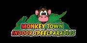 Dit is het logo van Monkey Town. Monkey Town  is één van onze klanten, waarbij we de bestelkiosk gebruiken om hun gasten te laten bestellen