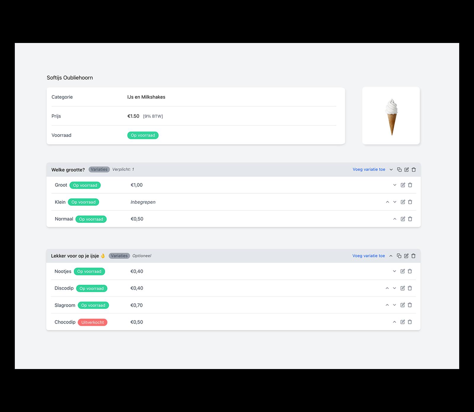 Een overzicht van alle bestellingen, zodat de ondernemer alle controle heeft op zijn zaak en de bestellingen die geplaatst worden via de kiosk. Dit is het Onesix Dashboard