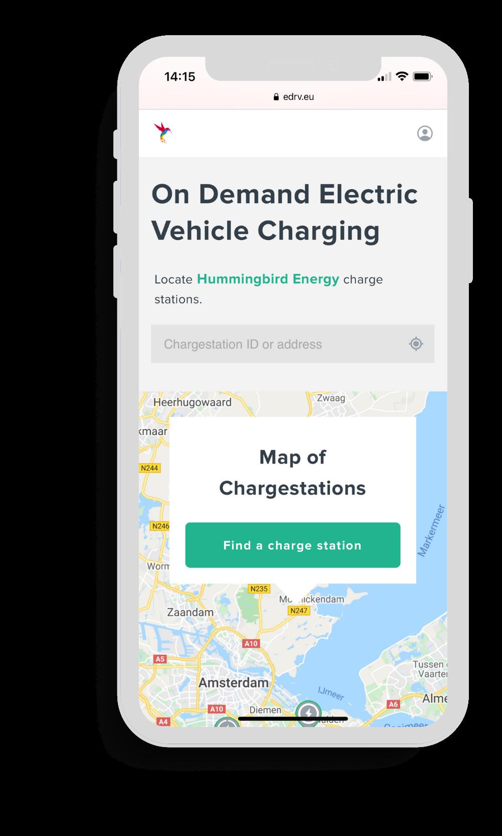 Mobile webapp for EV charging
