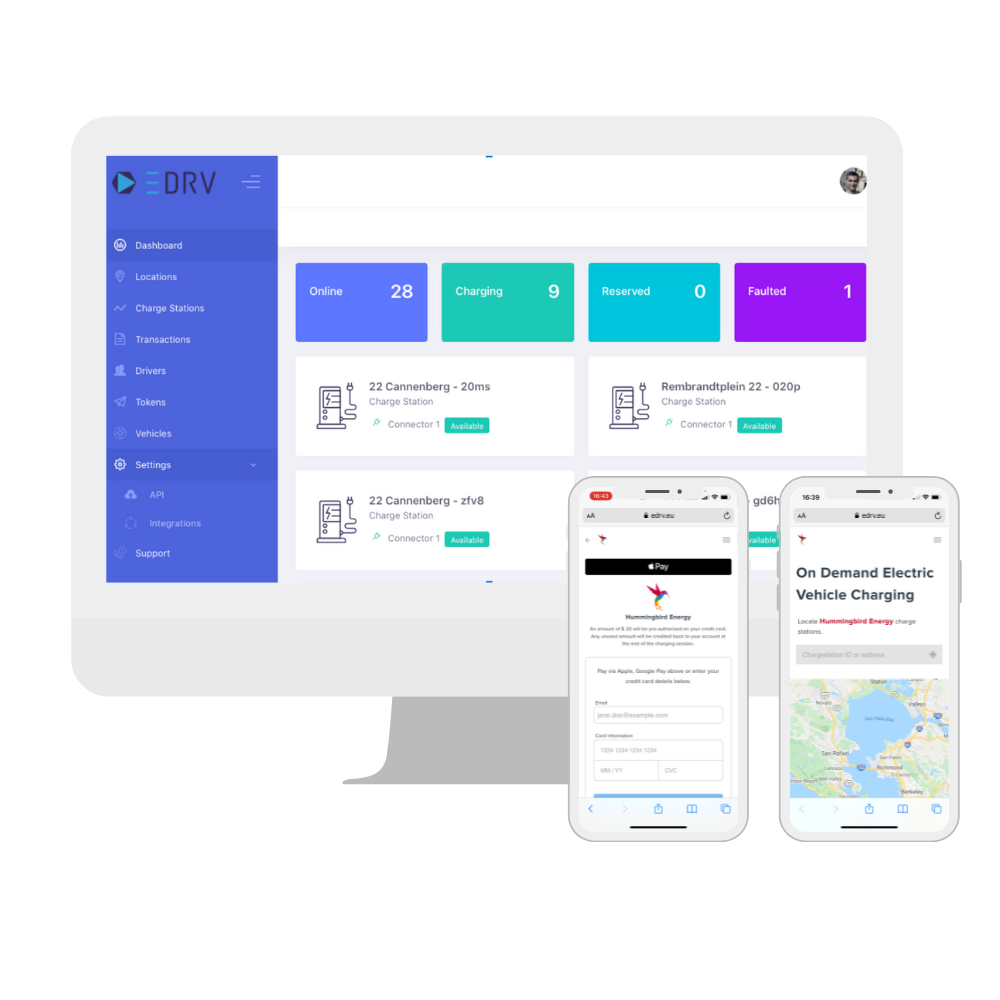 eDRV Cloud Based Charging Management Dashboard and Mobile Driver Application