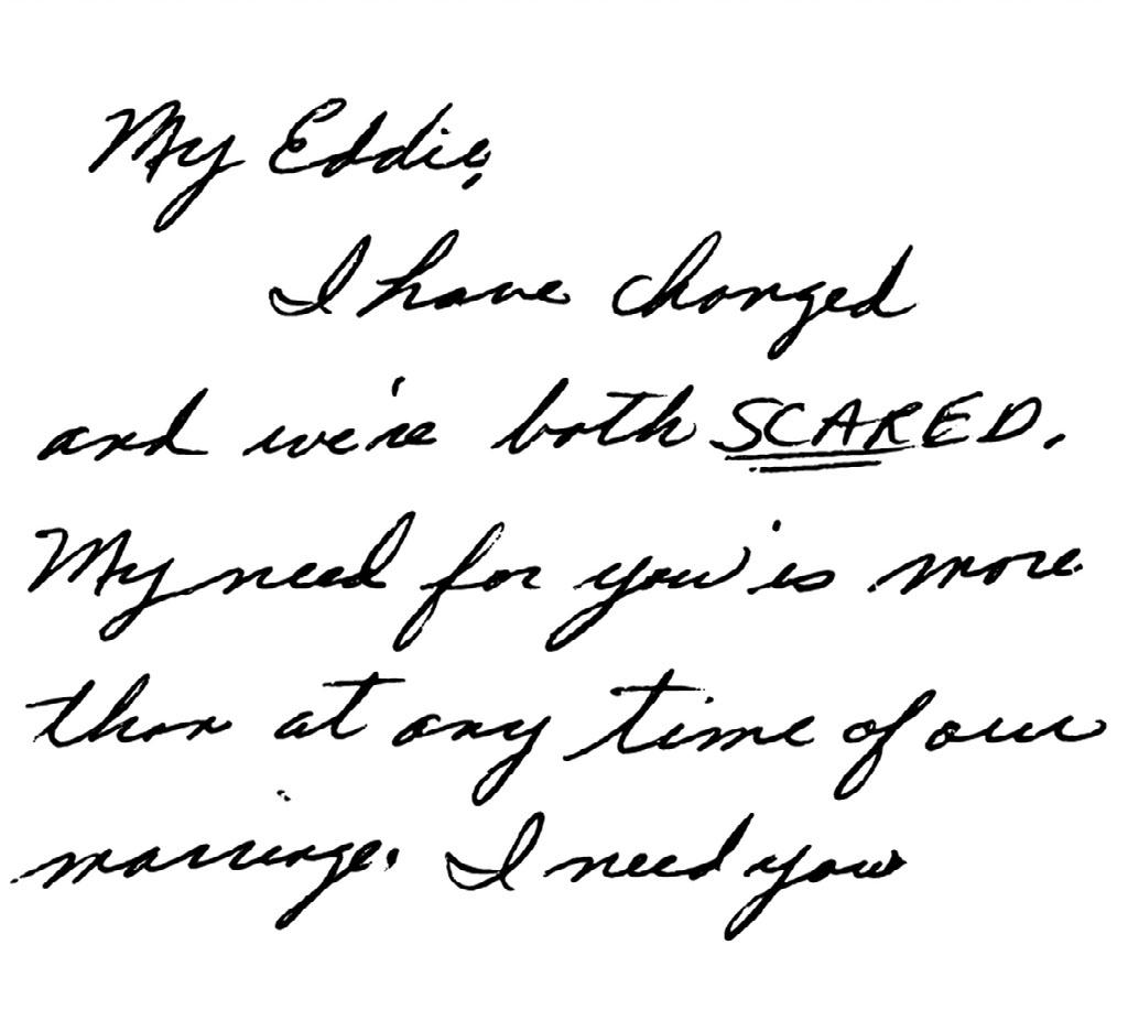 Karen's handwriting