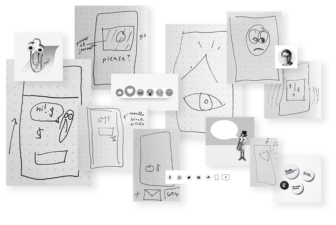 collage with sketches