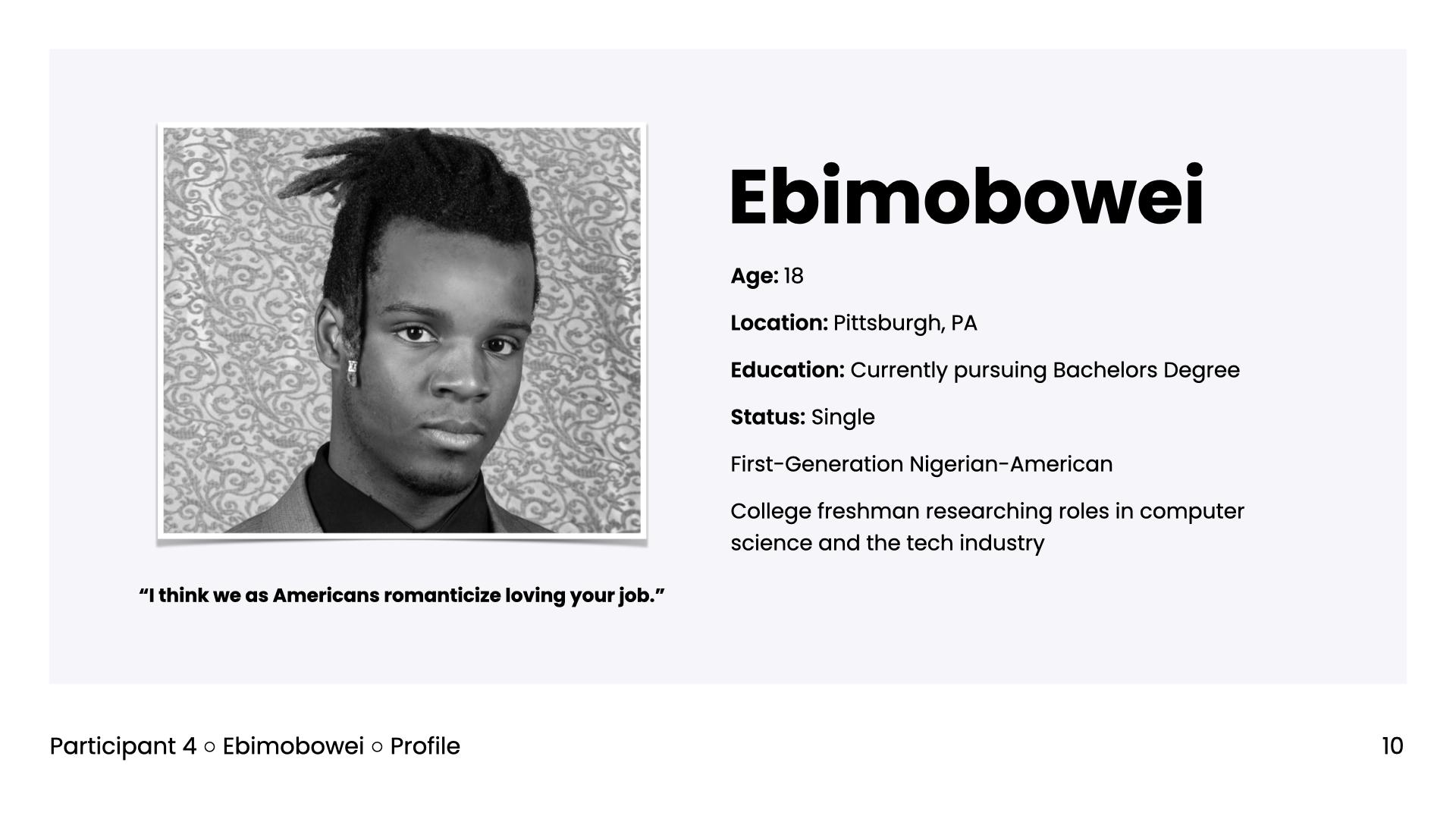 Persona profile for Ellie
