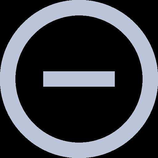 A minus icon