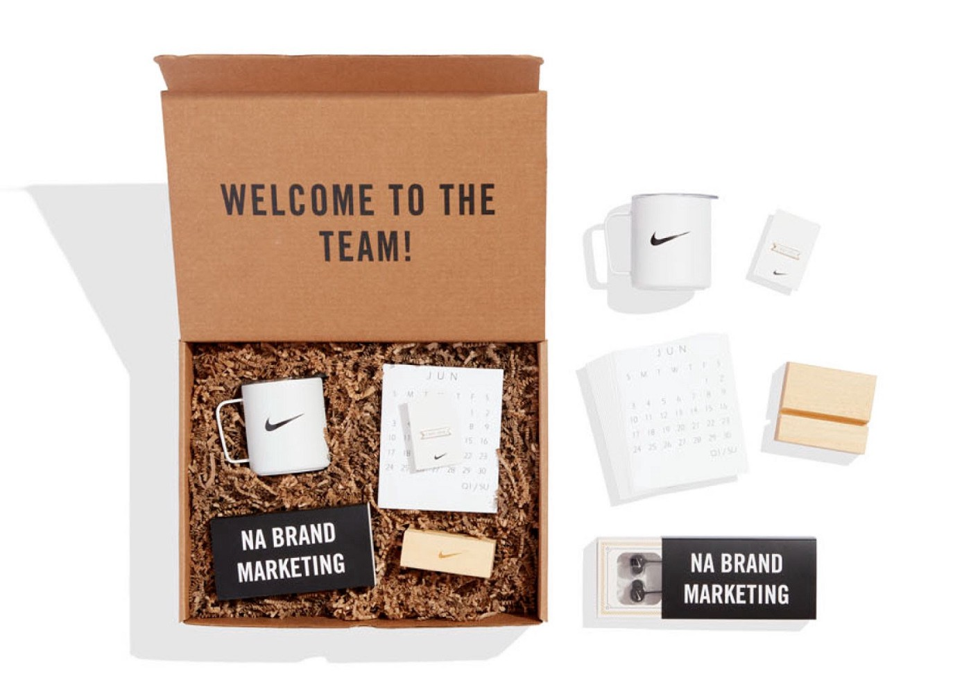 Nike's Welcome to the Team box