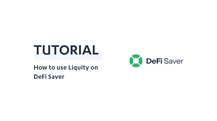 How to use Liquity on DeFi Saver