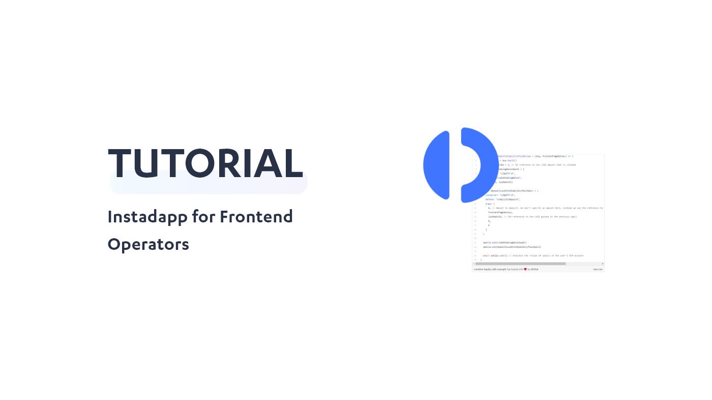 Instadapp for Frontend Operators