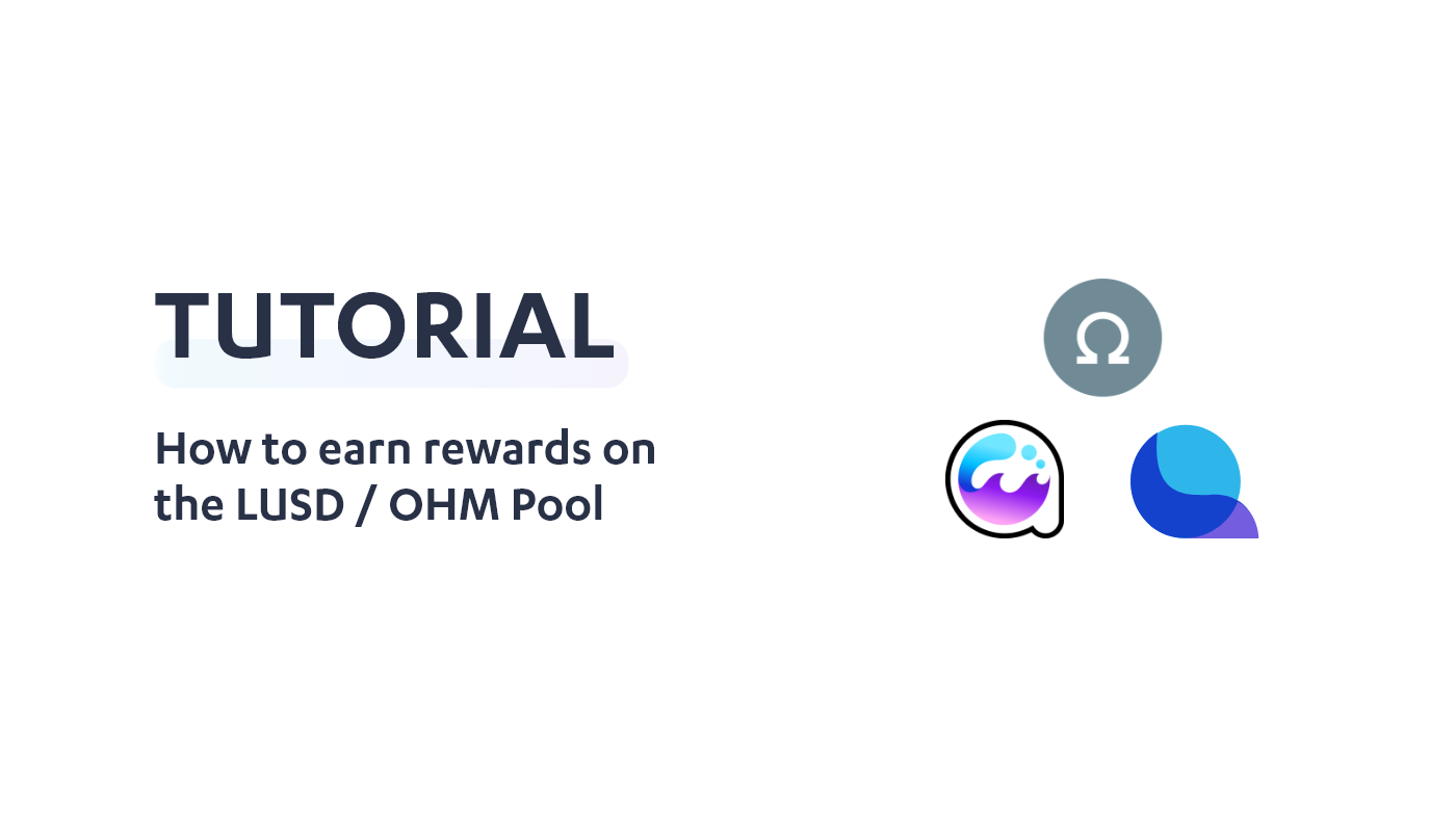How to earn rewards on the LUSD / OHM pool using Crucible
