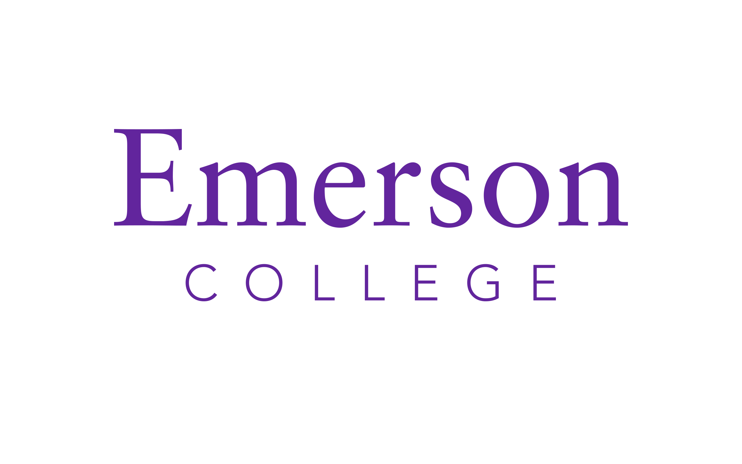 Emerson College logo where Jacob attended