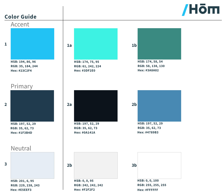 HOM Color Scheme