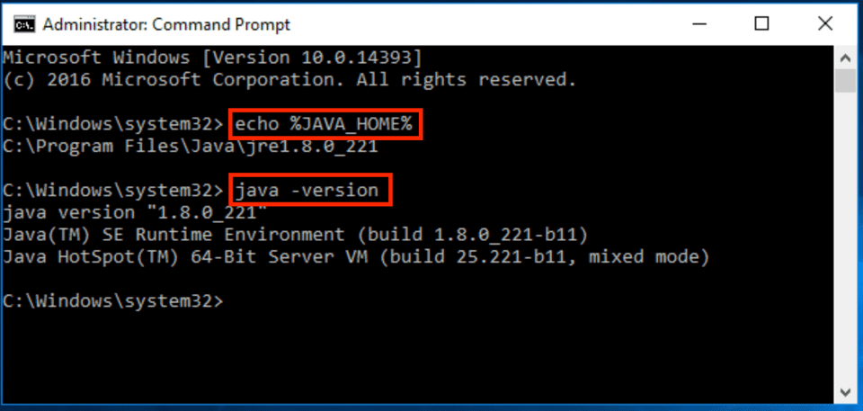 check Java installed properly