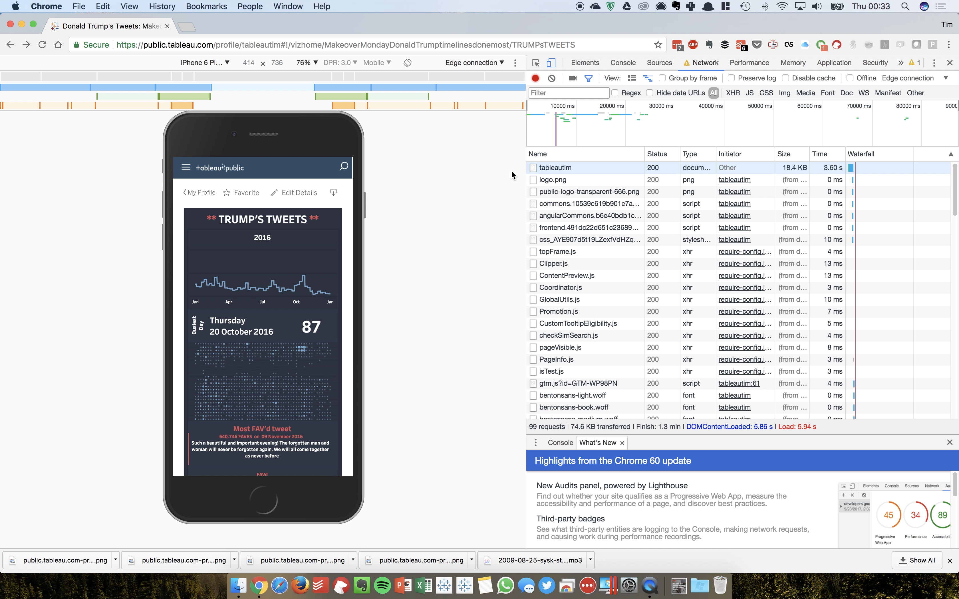 Image: Mobile device testing in tableau