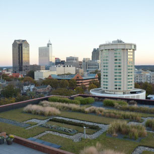 View of downtown Raleigh skyline.