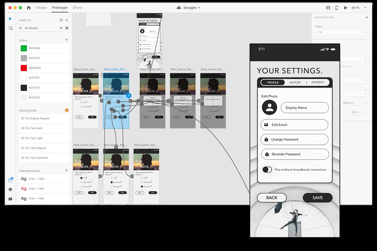 Hi-Fi prototype designed in Adobe XD.
