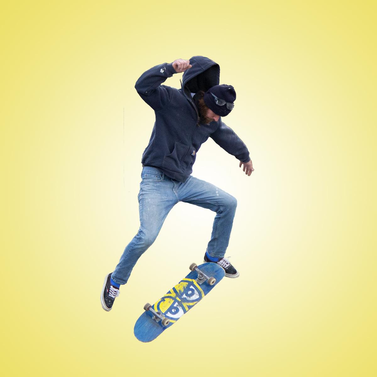 Edited Image of Skateboard Trick