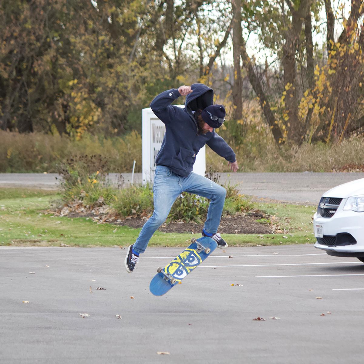 Raw Image of Skateboard Trick