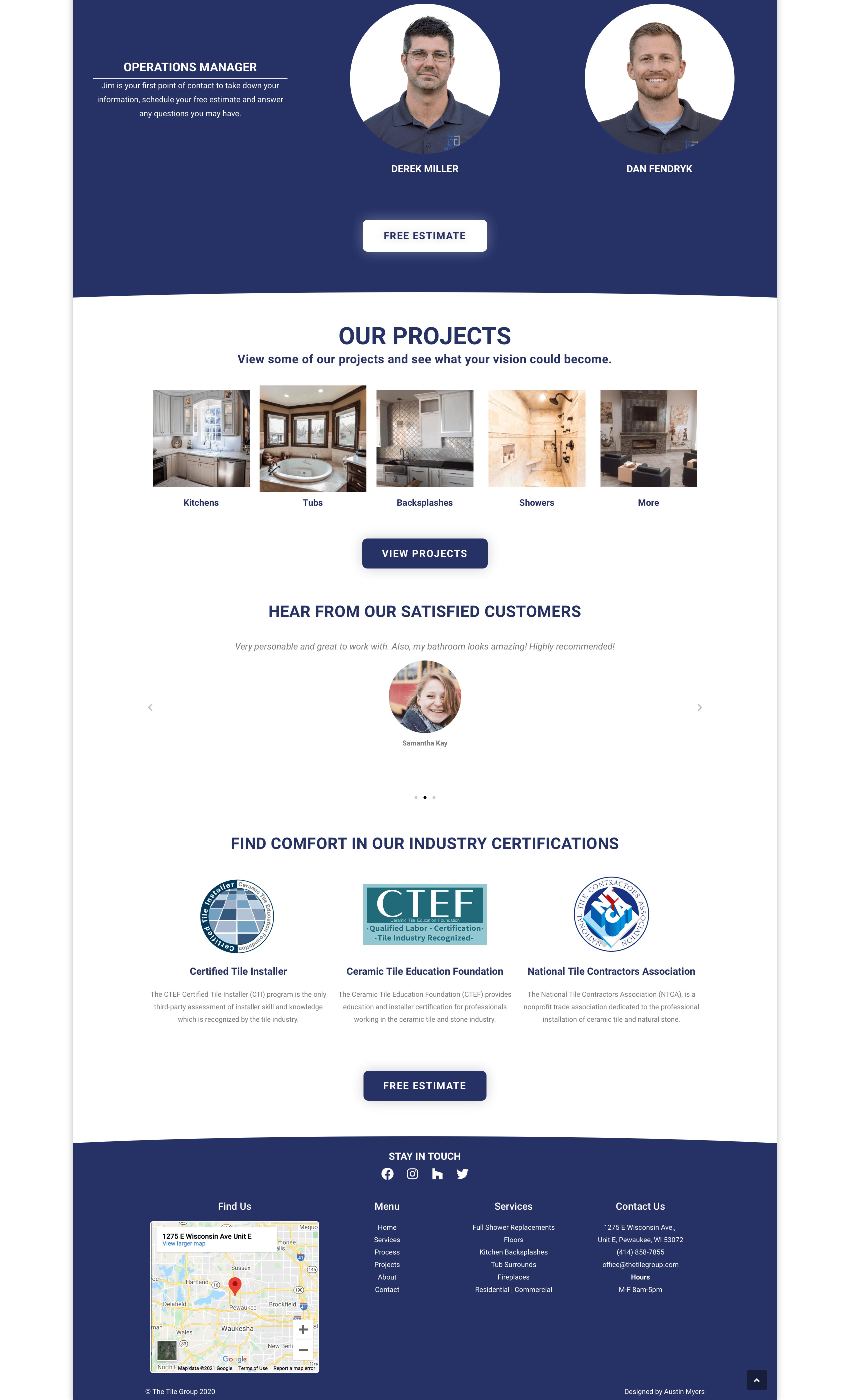 Old version of website for comparison image 1 of 2