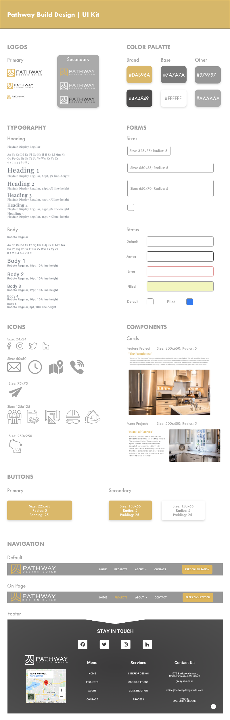 Pathway Design Build UI Kit