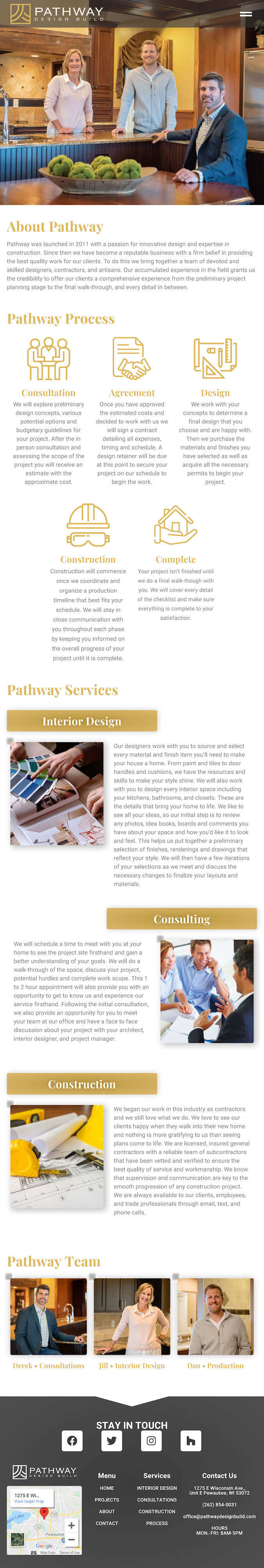 Pathway Design Build About- Tablet