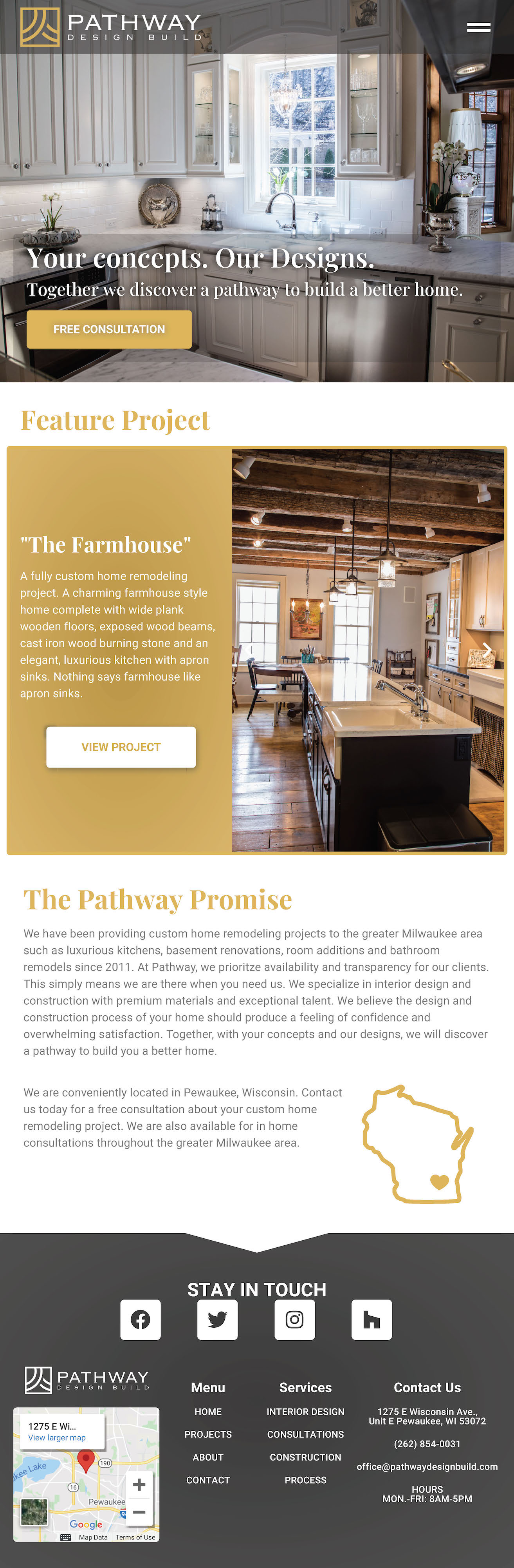 Pathway Design Build Homepage- Tablet