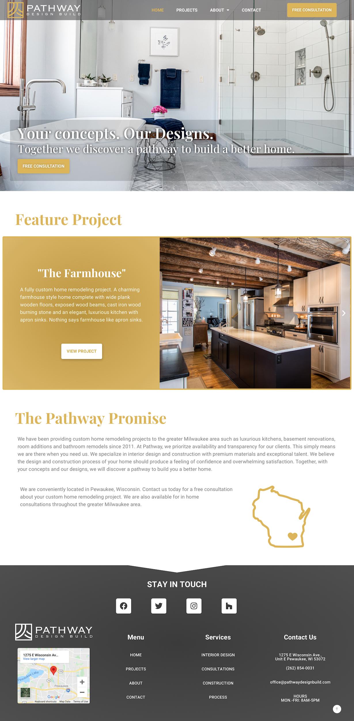 Pathway Design Build Homepage- Desktop