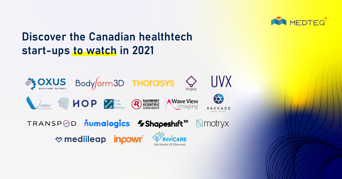 Discover the Canadian healthtech start-ups to watch in 2021. MEDTEQ+, through its AIM coaching program, has selected about twenty promising companies in health technologies.