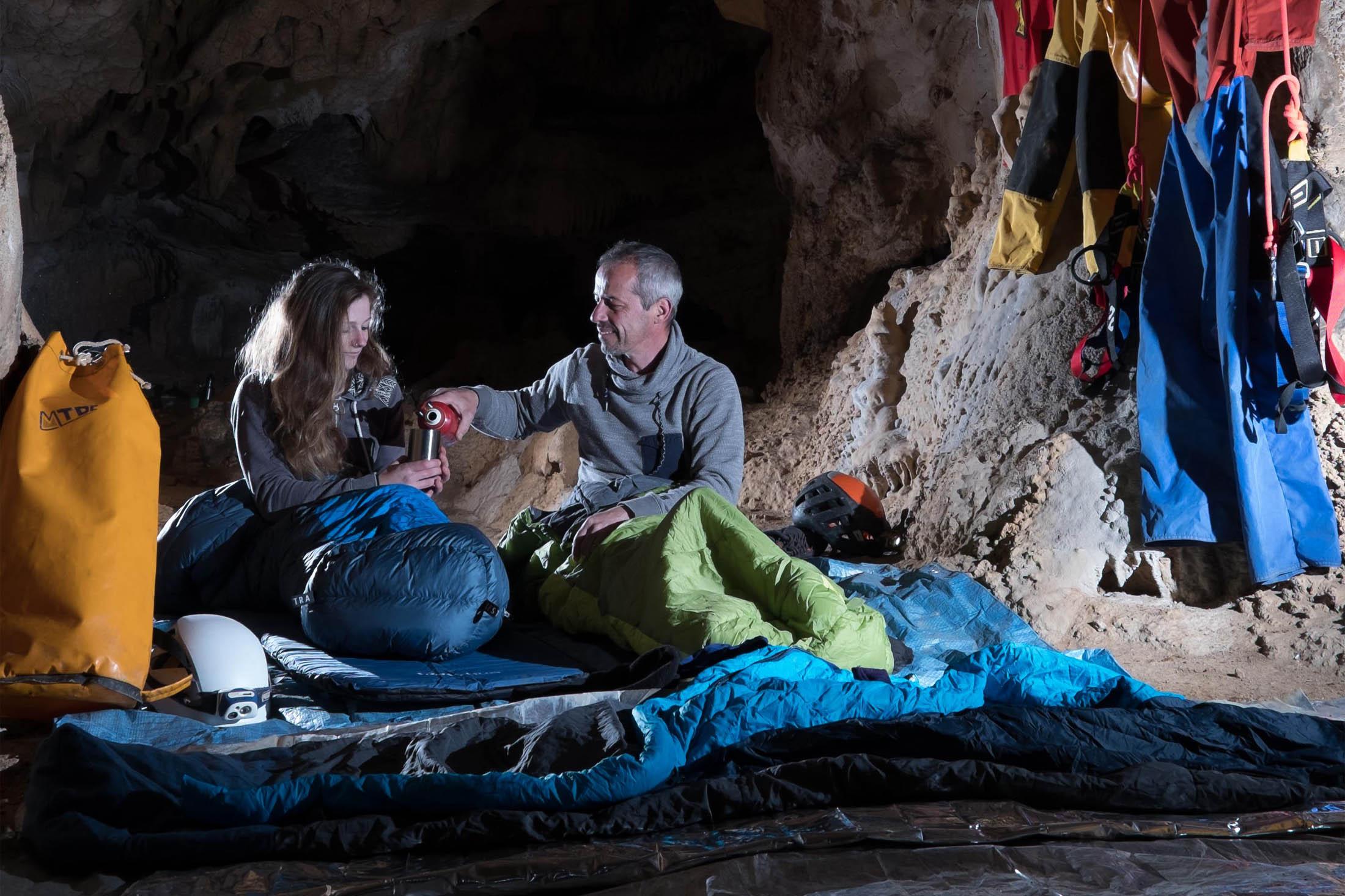 Dormir en bivouac à 50 mètres sous terre