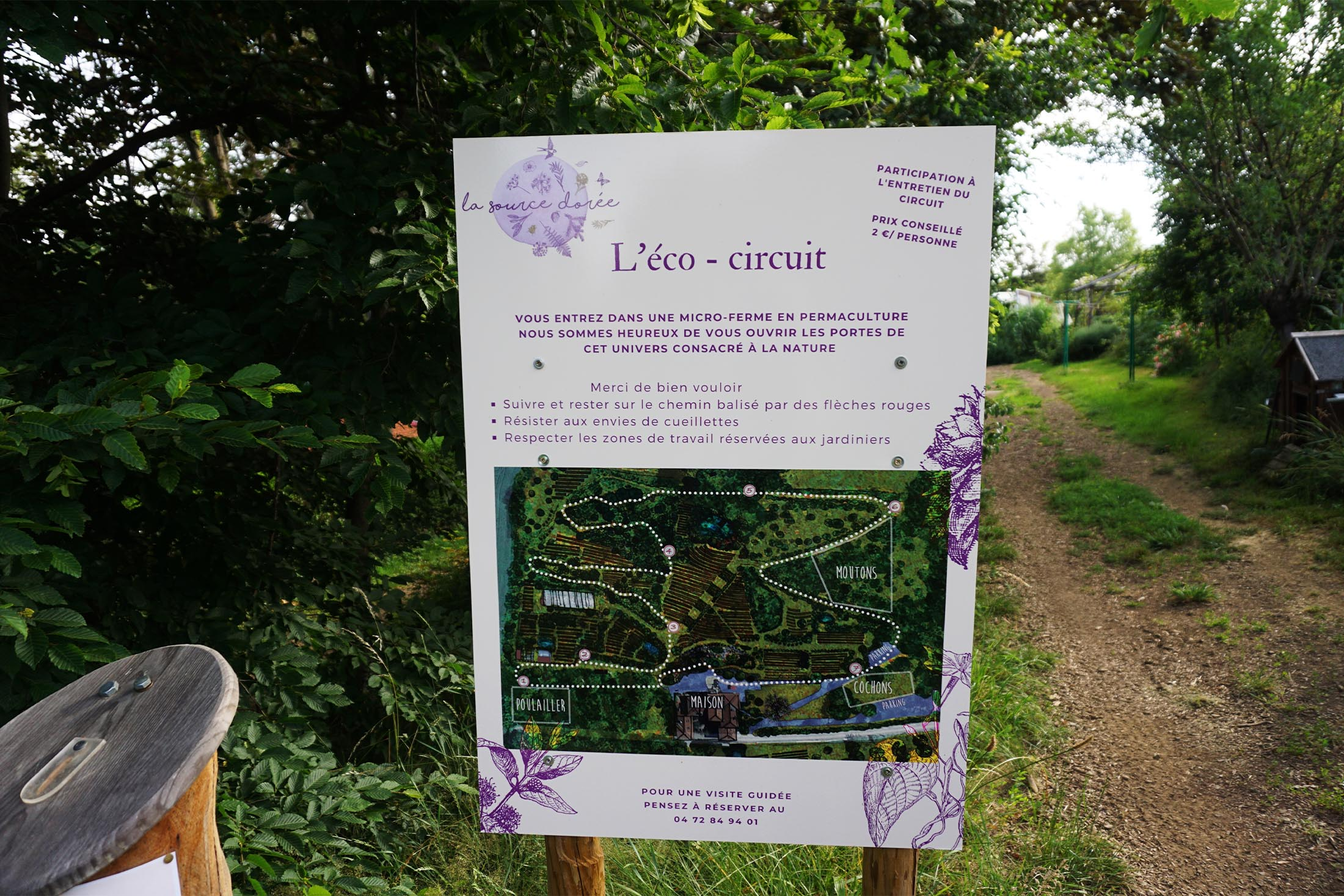 Eco-circuit permaculture à la Source Dorée