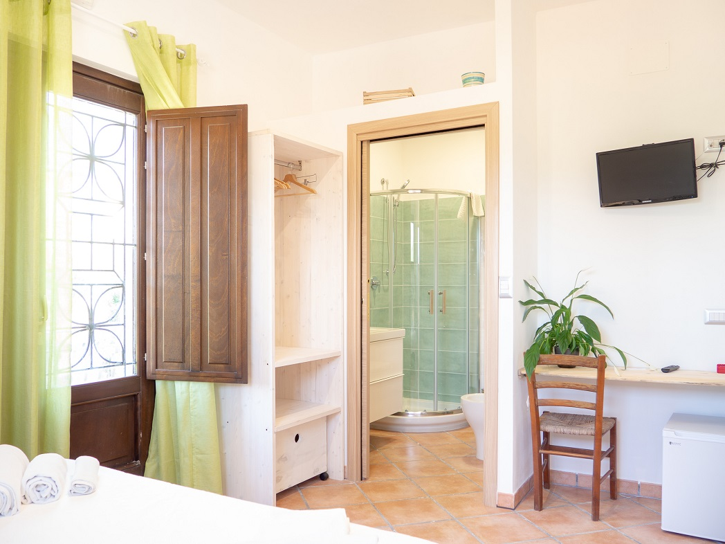 camera con bagno- Casale del borgo
