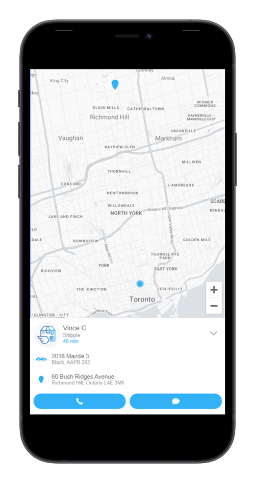 Shippie live gps tracking