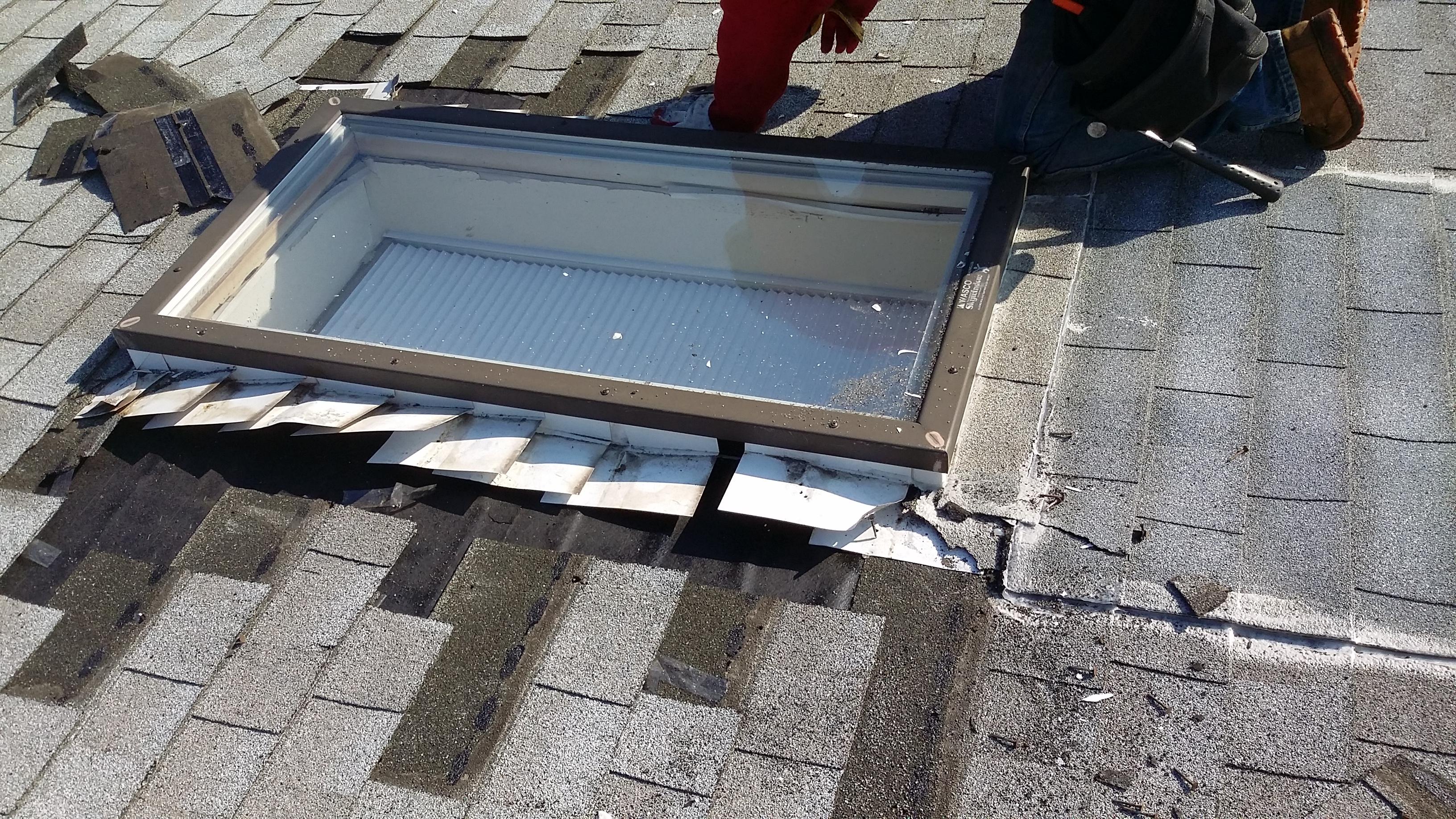 Skylight leak repair